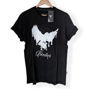 Birdies Black Graphic Crew Neck T-shirt